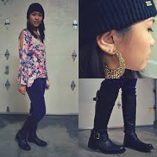 Natalie Ruth Fajardo | LOOKBOOK Natalie Ruth Fajardo - Obey Beanie, Urban Outfitters Earring, Miz Mooz Boots, Urban