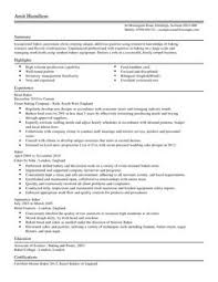 baker cv example for restaurant bar livecareer chief baker resume