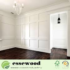 primed decorative whole wood trim wall panel chair rail moulding