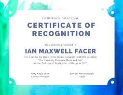 Principal Award Certificate Talent Certificate Of Appreciation For School Principal