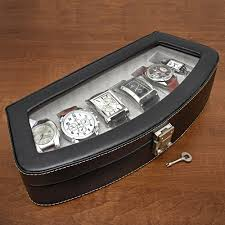 timeless italian leather six watch case engravable