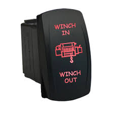 rocker switch 653rm 12v winch in winch out laser momentary led red rocker switch 653rm 12v winch in winch out laser momentary led red 12v 20a