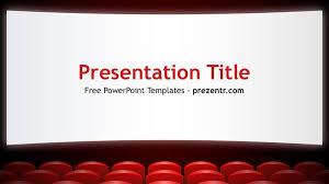 Movie Powerpoint Template Free Movie Theater Powerpoint Template Prezentr Ppt Templates
