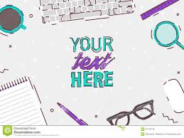designer office desk isolated objects top view. background business coffee design desk flat illustration laptop office top vector view designer isolated objects