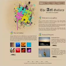Artist Website Templates Classy Free Artist Gallery Website Template Free Art Templates
