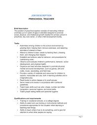 Job Description Teacher