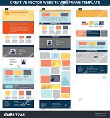 Website - Stock Design Shutterstock Vector Web Page royalty Template Set Free 306294299