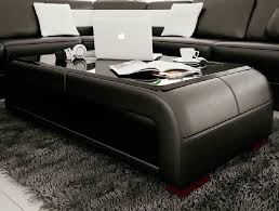 leather coffee table modern re