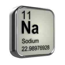 3d Sodium element stock illustration. Illustration of science ...