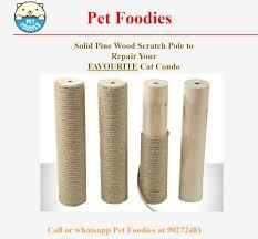 pet foos solid pine wood scratch pole