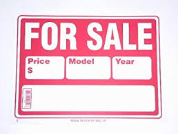 For Sale Sign On Car For Sale Sign Car Signs And Banners Amazon Co Uk Toys Games