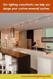 kitchen with tech lighting monorail