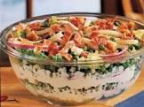 bacon swiss tossed salad