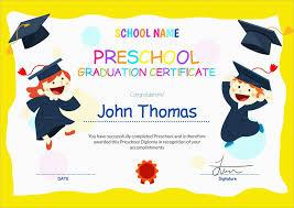 Preschool Graduation Announcements Free Printableschool Graduation Invitation Templates