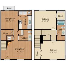2 bed 1 5 bath townhouse furnish this floor plan