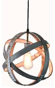 wine barrel ring pendant light