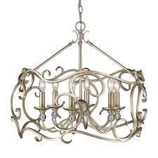 golden lighting colette 6 light white gold chandelier