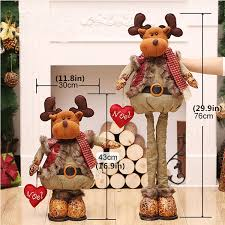 Natal Retractable Standing 43 76cm <b>Christmas Doll Christmas</b> ...