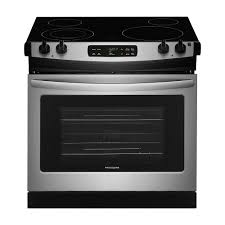 drop in electric range with self