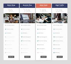 Divi Chart Divi Custom Pricing Tables With Images And Font Awesome 5