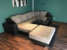 Sofa Wohnlandschaft Schlaffunktion Glastisch In 49624