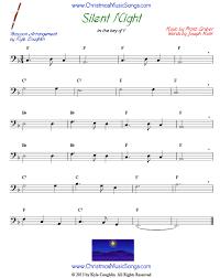 bassoon sheet music silent night for bassoon free sheet music