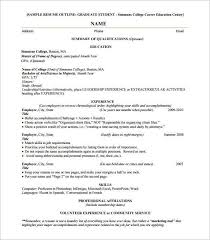 Resume Outline Free Magnificent Blank Resume Template Pdf Awesome Resume Outline Free Design