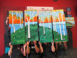 come in to paint a mural and build teamwork at painting with a twist