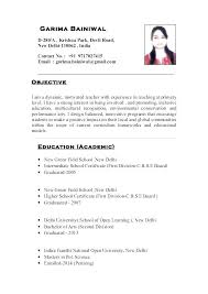 Education Section Of Resumes Best Resume Format For Teaching Profession Templates