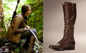 style hunter katniss everdeen s lace up boots from the hunger  style hunter katniss everdeen s lace up boots from the hunger games