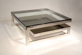 Stainless Steel Table Top Bedroom Unusual Square Glass Top Coffee Table With Winsome Silver