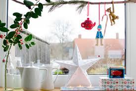 Weihnachtliche Deko Am Fenster In Der Küche Im Vintage Stil Leelah