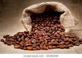 coffee beans bag. Beautiful Coffee Studio Shot Of Coffee Beans In A Bag On E