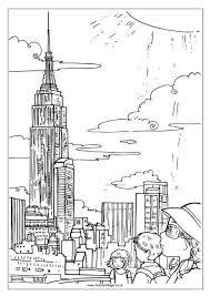 Small Picture Empire State Building Colouring Page
