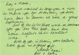Thank You Note - Lecy Brothers Homes
