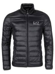 ea7 emporio armani mens ultra lightweight jacket slim fit black uk size small