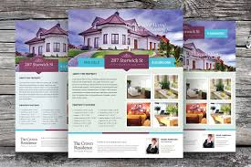 home for sale template real estate flyer template vol 02 flyer templates creative market