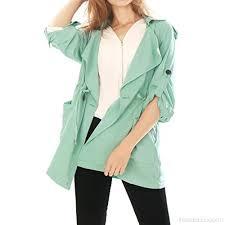 Allegra K Clothing Size Chart Allegra K Womens Roll Up Sleeves Split Lapel Drawstring