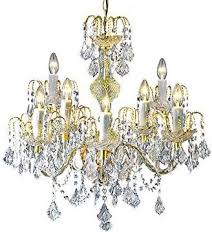clear loxton lighting 9 light crystal effect gold chandelier gold