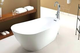 rectangle freestanding tub with curving sides and center drain installation maax sax rouge