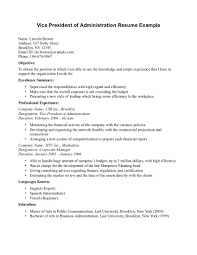 Business Administration Sample Resume Nardellidesign Com