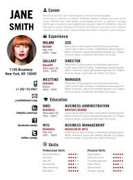 find the red creative resume template on wwwcvfoliocom cute resume templates