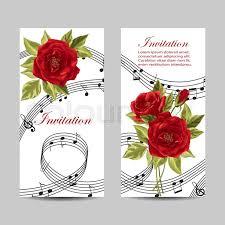 Wedding Card Design Set Of Wedding Invitation Cards Stock Vector Colourbox