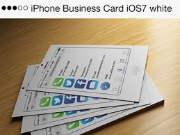 Iphone Business Card Ios7 White By Codegrape Dribbble Dribbble