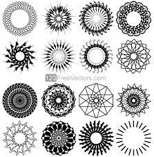 Geometric Circle Design Vector Art Mandala Pinterest