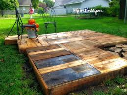 Diy Outdoor Dance Floor Awesome Wood Pallet Deck Ideas