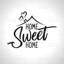 Home Sweet Home Typografieposter Stock Vektor Art und mehr Bilder von  Banneranzeige - iStock