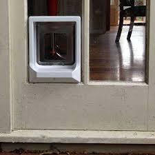 catwalk w ucdw upgradeable cat door white installed in glass