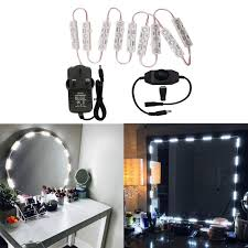 Vanity mirror lighting Old School New Hollywood Style Led Vanity Mirror Lights Kit Dimmable Bulbs And Home Design Ideas Vanity Mirror And Lights Home Design Ideas