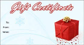 Holiday Gift Certificates Gift Template Select A Gift Certificate Template To Customize
